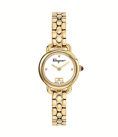 Salvatore Ferragamo Women's Varina Gold Stainless Steel Bracelet Watch