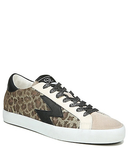 Sam Edelman Areson Leopard Print Lace Up Sneakers