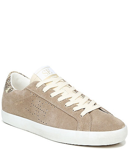 Sam Edelman Aubrie Double E Perforated Suede Sneakers