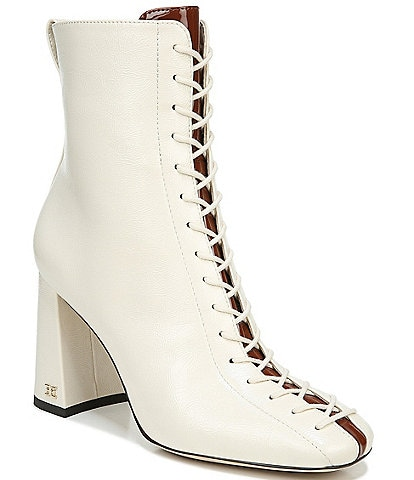 Sam Edelman Carney Lace Up Patent Booties