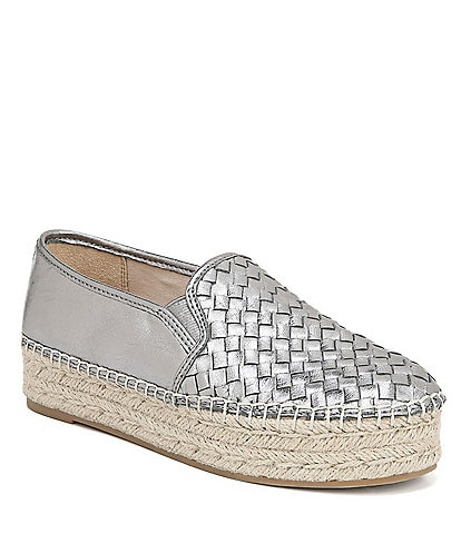 Sam Edelman Catherine Woven Leather Espadrilles