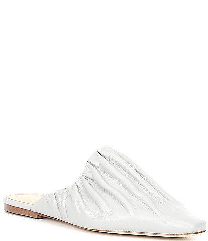 Sam Edelman Cecilia Ruched Leather Pointed Toe Flats