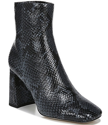 Sam Edelman Codie Snake Print Leather Booties