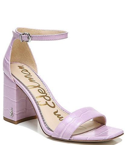 Sam Edelman Daniella Croc Embossed Leather Dress Sandals