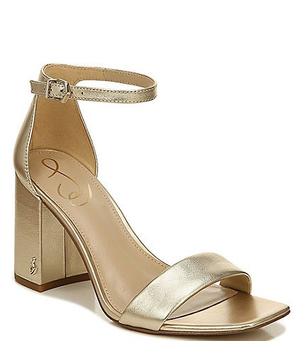 Sam Edelman Daniella Metallic Leather Dress Sandals