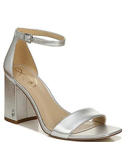 Sam Edelman Daniella Metallic Leather Dress Sandals