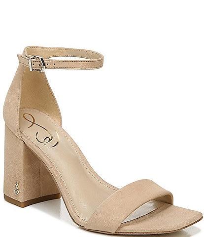 Sam Edelman Daniella Suede Block Heel Square Toe Dress Sandals