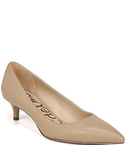 Sam Edelman Dori Leather Kitten Heel Pumps