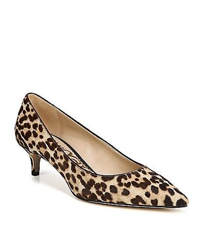 Sam Edelman Dori Leopard Print Kitten Heel Pumps