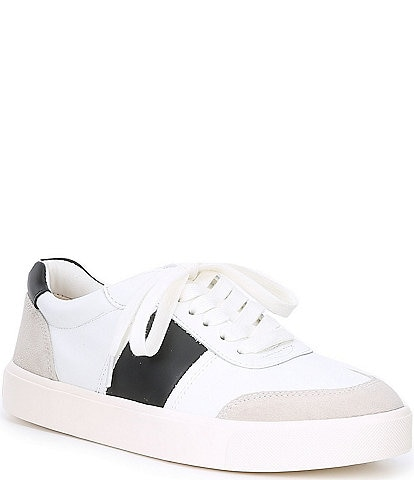Sam Edelman Enna Leather and Suede Colorblock Sneakers