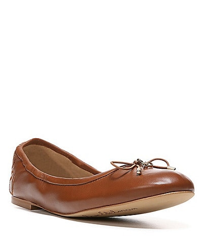 Sam Edelman Felicia Leather Bow Detail Ballet Flats