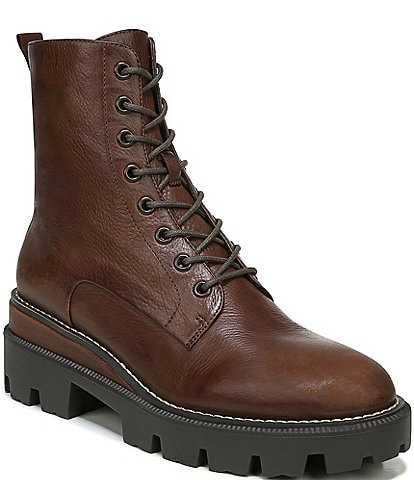 Sam Edelman Garret Leather Lug Sole Combat Booties