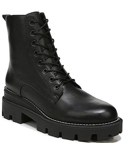 Sam Edelman Garret Lug Sole Waterproof Leather Combat Booties