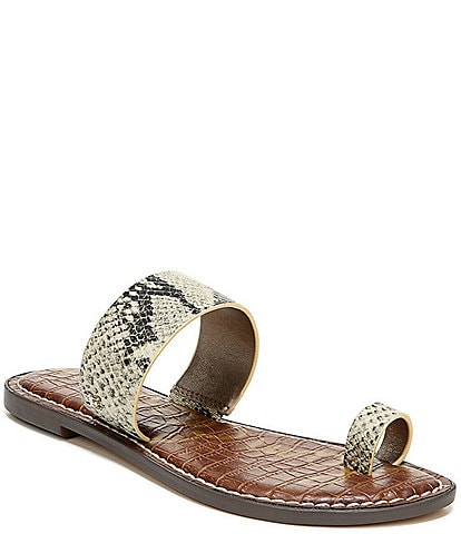Sam Edelman Gorgene Snake Print Toe Ring Sandals