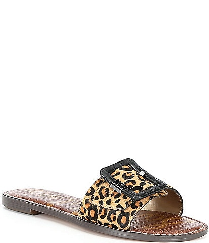 Sam Edelman Granada Leopard Print Leather Banded Sandals