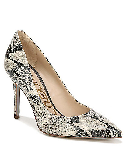 Sam Edelman Hazel Snake Print Leather Dress Pumps