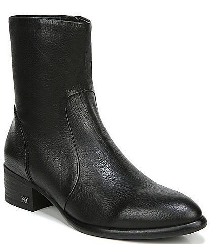 Sam Edelman Hilary Leather Block Heel Booties