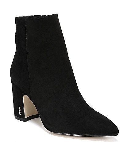 Sam Edelman Hilty Suede Block Heels Booties