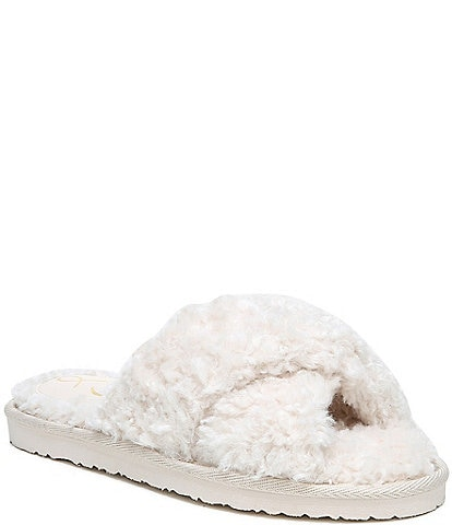 Sam Edelman Jeane Faux Shearling Criss Cross Slippers