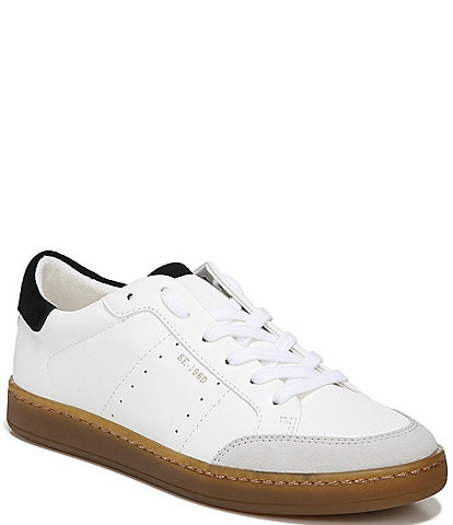 Sam Edelman Josi Gum Sole Leather Lace-Up Sneakers