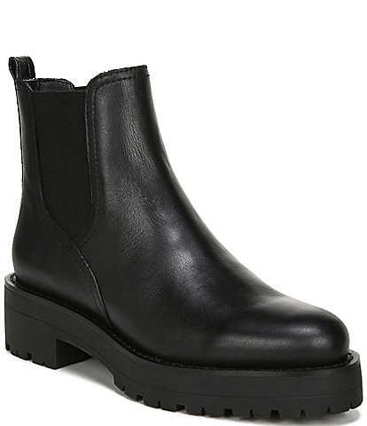 Sam Edelman Justina Waterproof Leather Chelsea Booties