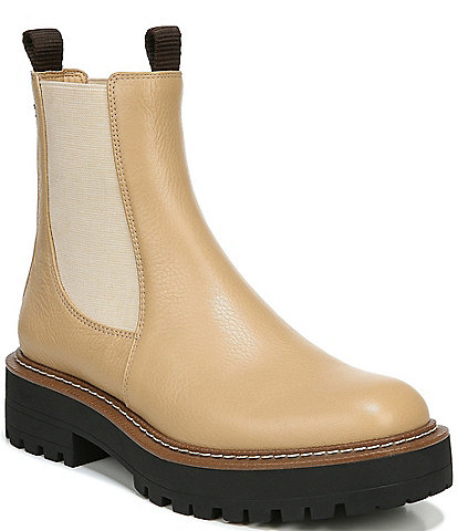 Sam Edelman Laguna Waterproof Leather Chelsea Lug Sole Booties