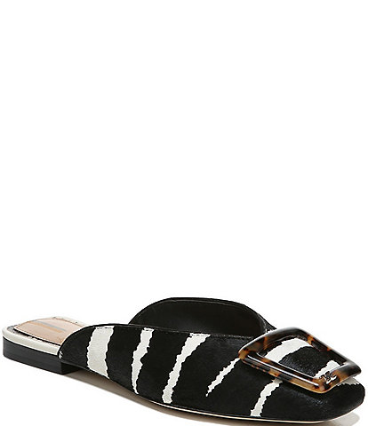 Sam Edelman Lavina Striped Printed Haircalf Mules
