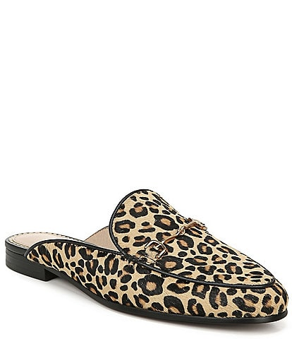 Sam Edelman Linnie Leopard Print Slip On Mules