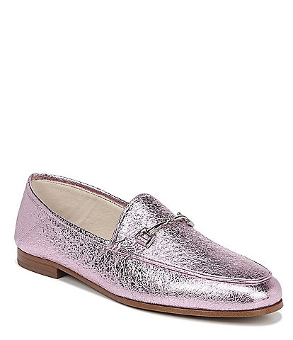 Sam Edelman Loraine Leather Bit Embellishment Loafers