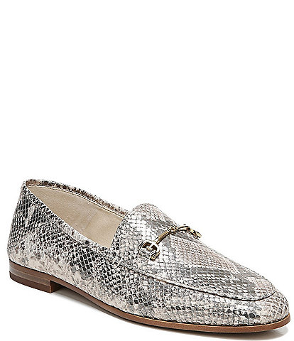 Sam Edelman Loraine Snake Embossed Leather Loafers