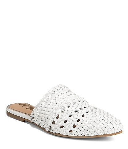 f8847136dc Sam Edelman Natalya Woven Leather Mules
