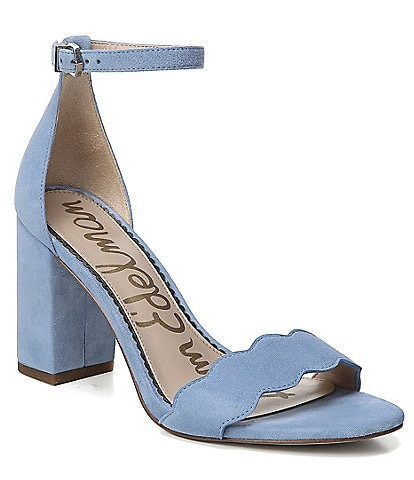 Sam Edelman Odila Suede Ankle Strap Block Heel Dress Sandals