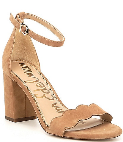 cbd0401b3309 Sam Edelman Odila Suede Ankle Strap Block Heel Dress Sandals
