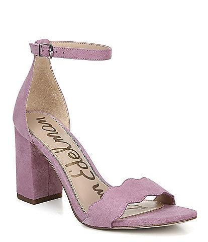 Sam Edelman Odila Suede Ankle Strap Block Heel Dress Sandals