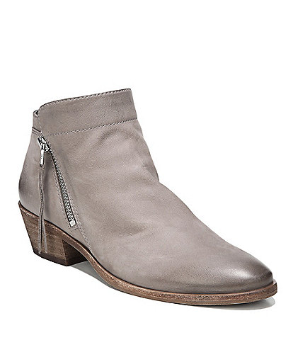 Sam Edelman Packer Leather Block Heel Ankle Booties