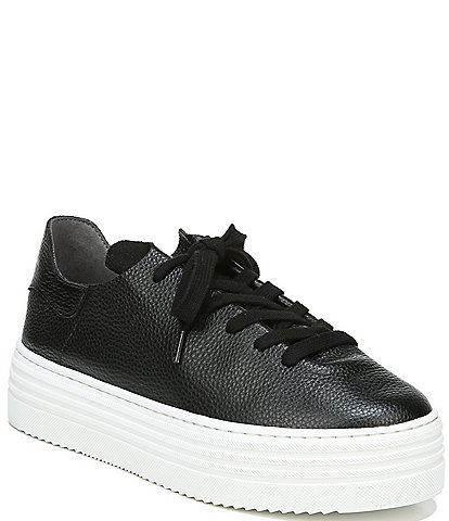 Sam Edelman Pippy Leather Lace Up Platform Sneakers