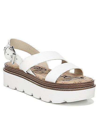 1bc17af8d Sam Edelman Rasheed Leather Banded Flatform Sandals