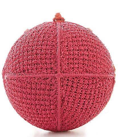 Sam Edelman Rochelle Raffia Ball Colorblock Crossbody
