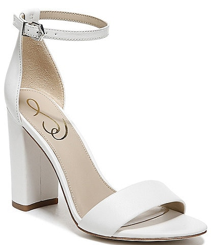Sam Edelman Yaro Leather Ankle Strap Block Heel Dress Sandals