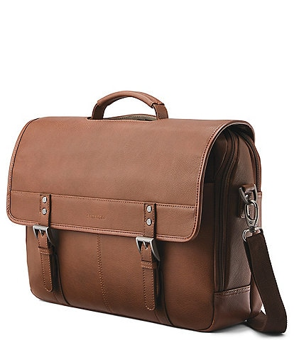 Samsonite Classic Leather Flapover Briefcase