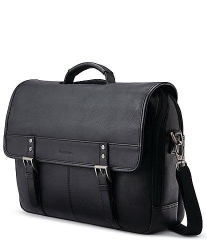 Samsonite Classic Leather Flapover Briefcase
