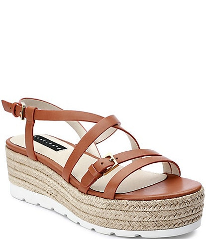 Sanctuary Aerial Flatform Leather Strappy Espadrilles