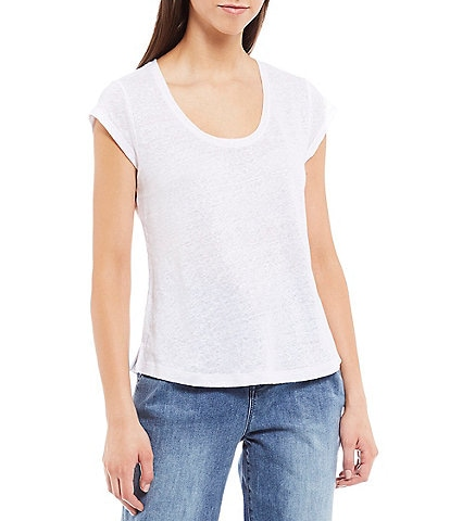 Sanctuary Alma Scoop Neck Light Linen Tee