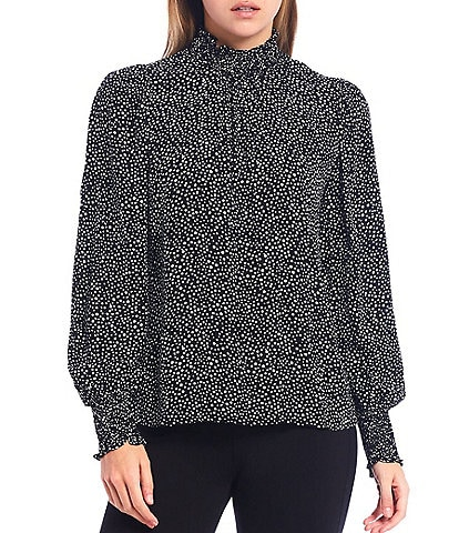 Sanctuary Be Bold Nocturnal Spots Long Sleeve Top