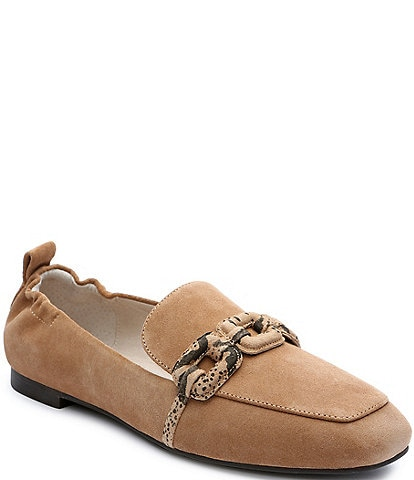 Sanctuary Blast Suede Snake Print Chain Detail Loafers