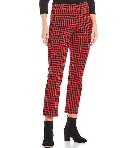 Sanctuary Carnaby Kick Houndstooth Print Crop Pull-On Ponte Pants