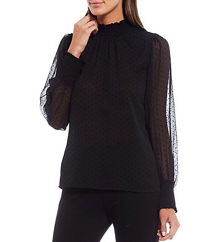 Sanctuary Carrie Balloon Sleeve Mock Neck Top