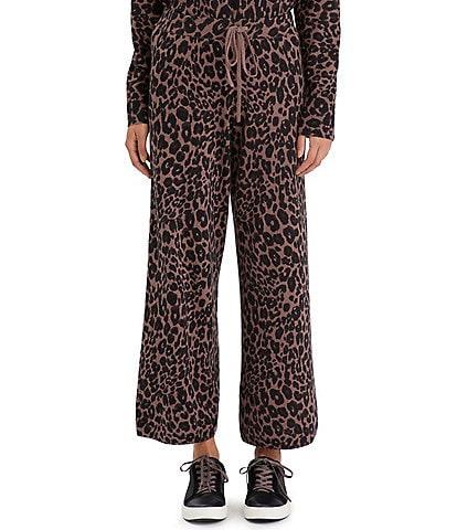 Sanctuary Essential Leopard Print Coordinating Drawstring Ankle Pants