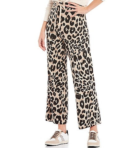 Sanctuary Essential Leopard Print Drawstring Ankle Pants