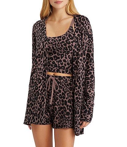 Sanctuary Essential Leopard Print Long Sleeve Coordinating Open-Front Cardigan
